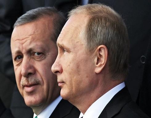 """أردوغان يبحث مع بوتين قضية """"قره باغ"""" والوضع في سوريا وليبيا"""
