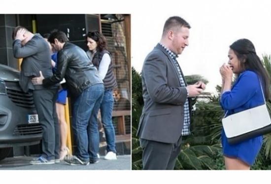 في لحظاتٍ مؤثرة.. عملية اعتقال تنتهي بعرض زواج رومانسي