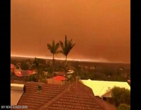 الحرائق تصبغ جنوب شرقي أستراليا