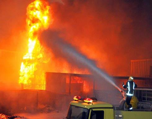اندلاع حريق هائل في فندق بالعاصمة الروسية