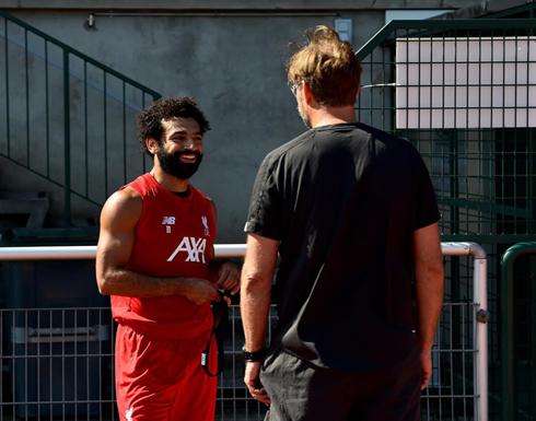 صلاح ينضم لتدريبات ليفربول (صور)