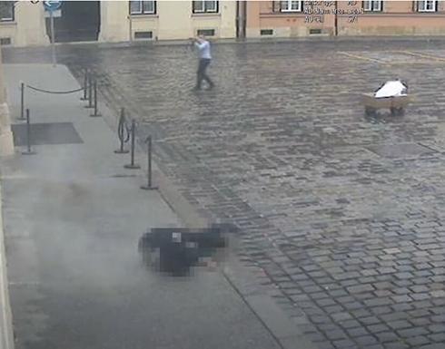 شاهد : الشرطة الكرواتية تنشر فيديو لإطلاق نار قرب مقر الحكومة
