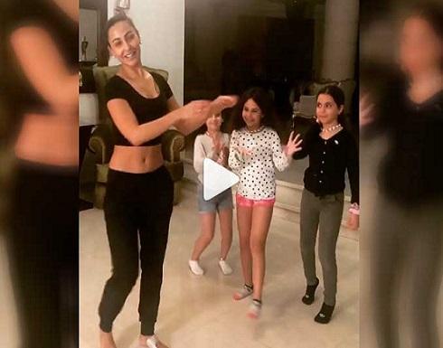 شاهد.. وصلة رقص للأردنية  ميس حمدان مع ابنة مي سليم
