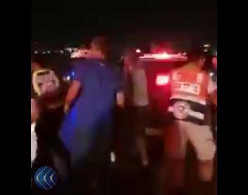 شاهد:  حادث الدهس الذي وقع شمال القدس المحتلة وإصابات بين جنود الاحتلال