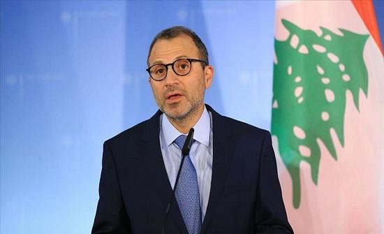لبنان يطلب أدلة بشأن العقوبات الأميركية على جبران باسيل