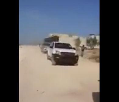 شاهد .. دخول آليات تركية إلى إدلب