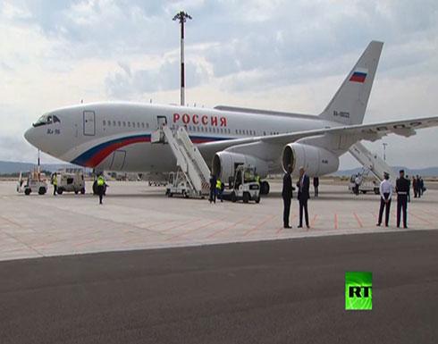 بالفيديو : وصول طائرة الرئيس الروسي إلى مرسيليا للقاء نظيره الفرنسي