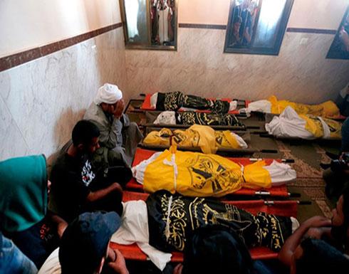 شاهد : 8 شهداء من عائلة واحدة بمجزرة للاحتلال وسط غزة