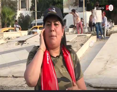 عبير موسى مراسلة صحفية ضد الاخوان .. بالفيديو