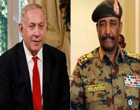 """نتنياهو بعد لقائه زعيم السودان: """"اتفقنا على التعاون"""""""