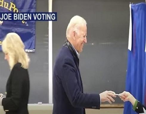 شاهد : جو بايدن يدلي بصوته في ويلمينغتون قبل موعد الانتخابات الرئاسية الأمريكية