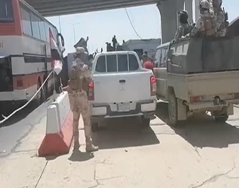 الجيش العراقي يرافق متظاهرين توجهوا للحدود لمساندة الفلسطينيين