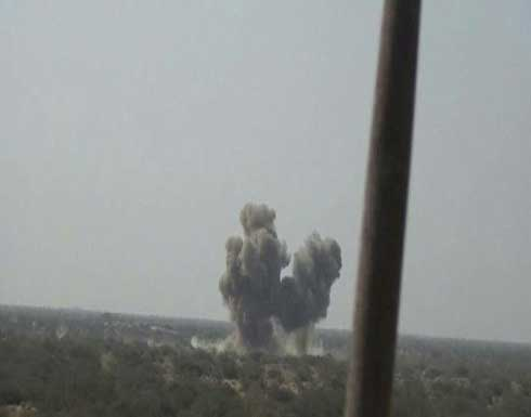 مأرب.. تدمير طقمين حوثيين بغارة للتحالف ومصرع قيادي