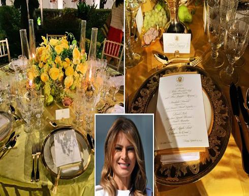 شاهد: كيف أعدت ميلانيا حديقة البيت الأبيض لاستقبال موريسون وزوجته