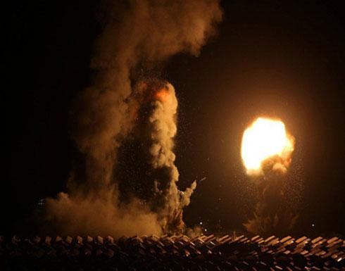 سلسلة غارات اسرائيلية تستهدف مواقع المقاومة بغزة
