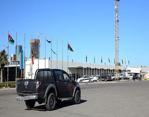 تعليق الملاحة الجوية في مطار معيتيقة بعد ضربة جوية