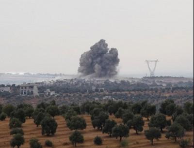 الطائرات الروسية عاودت قصف ريفي حلب وإدلب
