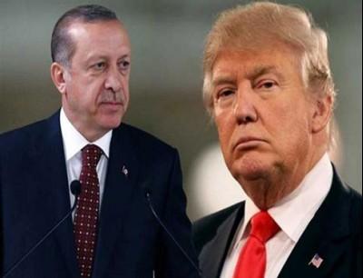 الرئيس الامريكي ترامب والرئيس التركي اردوغان