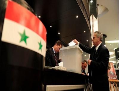 """من الانتخابات """"البرلمانية"""" في سوريا"""
