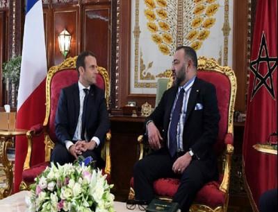 العاهل المغربي محمد السادس والرئيس الفرنسي إيمانويل ماكرون (أرشيفية)