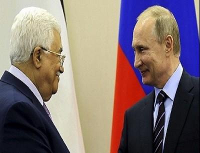 الرئيس الفلسطيني محمود عباس والرئيس الروسي بوتين
