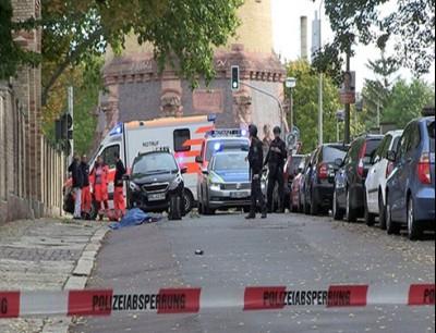 الشرطة الأمانية في مكان إطلاق النار