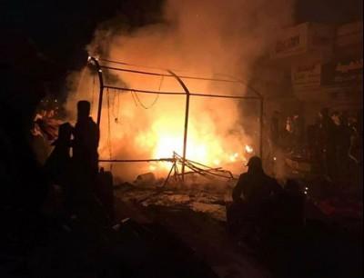 حرق خيم المعتصمين في ساحة التحرير
