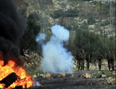مواجهات مع الاحتلال قرب قلقيلية