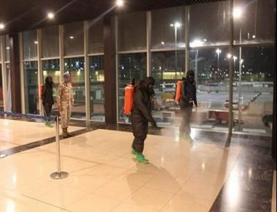 تعقيم مطار الملكة علياء