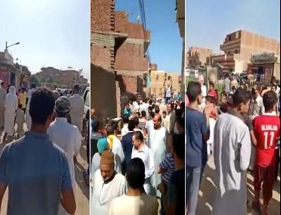 """مظاهرات في قرى وبلدات بأنحاء مصر تحت شعار """"جمعة الغضب"""""""