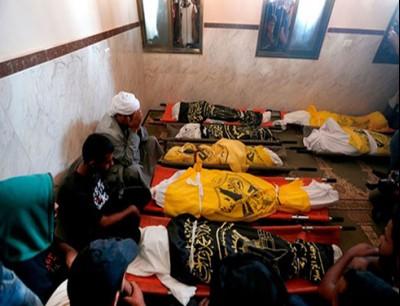 8 شهداء من عائلة واحدة بمجزرة للاحتلال