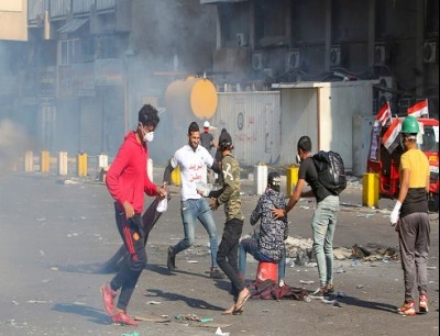 من ساحة الخلاني في بغداد الأحد