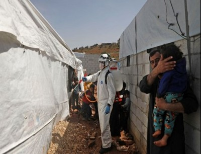 مخاوف بشكل أكبر على مخيمات النازحين في إدلب السورية من تفشي كورونا