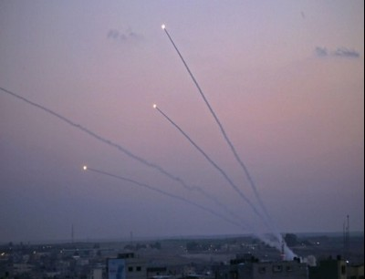 المقاومة قصفت تجمعات استطيانية في محيط غزة