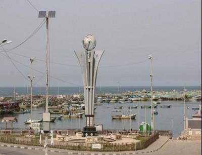 مساحة الصيد بغزة
