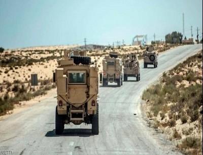 عربات مدرعة تابعة للجيش المصري في سيناء - أرشيفية
