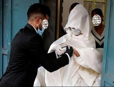حفل زفاف في فلسطين بزمن كورونا - ارشيفية