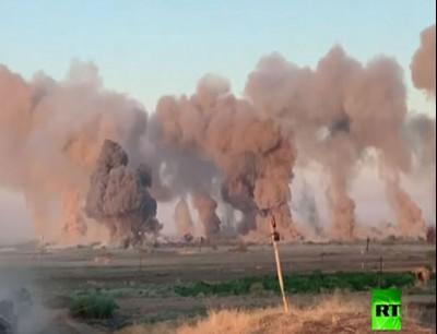 """ضربات جوية عنيفة ضد مواقع """"داعش"""" في العراق"""