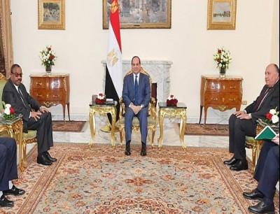 عبد الفتاح السيسي و هيلا ميريام ديسالين رئيس وزراء إثيوبيا السابق