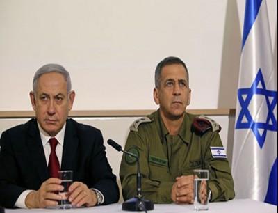 نتنياهو ورئيس هيئة الأركان بالجيش الإسرائيلي أفيف خوخافي