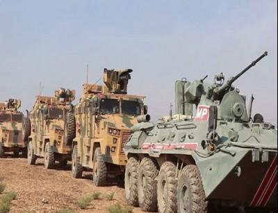 دورية روسية تركية مشتركة في شمال سوريا
