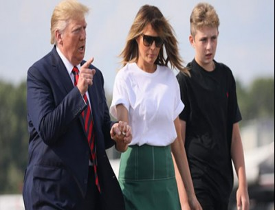 ترامب وعائلة