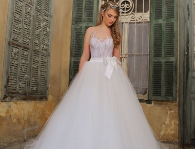 e8fdec48a بالصور :- فساتين زفاف ساره مراد 2015