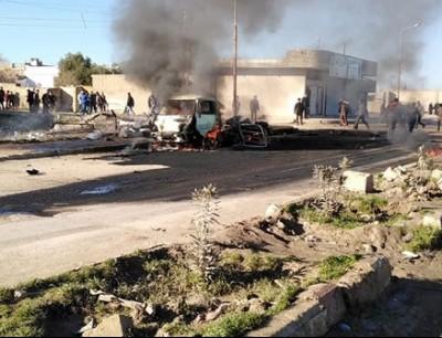 الانفجار وقع في بلدة المبروكة غرب رأس العين  - ارشيفية