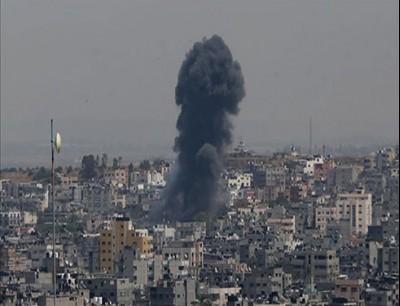 جانب من قصف غزة