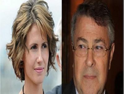 أسماء الأسد وابن عمها الأخرس