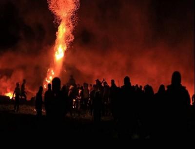 جانب من فعاليات الإرباك الليلي في قطاع غزة