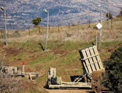 بطارية لنظام القبة الحديدية الإسرائيلي في مرتفعات الجولان