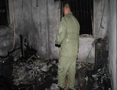 من موقع الجريمة (صورة نشرتها وزارة داخلية النظام على فيسبوك)
