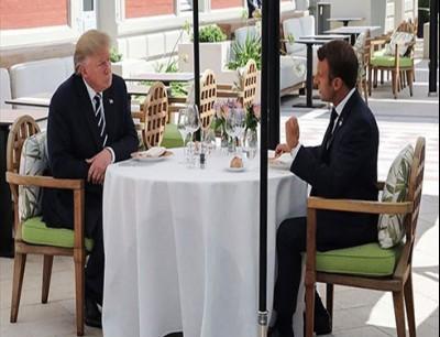 ترامب و ماركون